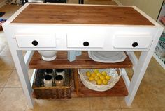 Kitchen Island Made With 2x4s