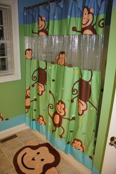 The curtain the bathroom was based on @Monkey Collection Target