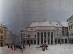 Teatro Carlo Felice w śniegu, połowa XIX wieku, olej na płótnie (własność prywatna, anonimowy autor)