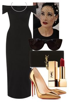 Sem título #2418 by mariandradde on Polyvore featuring The Row, Christian Louboutin, Yves Saint Laurent, Tiffany & Co. and Dita Von Teese