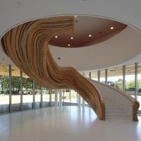 Stairs at The School of Arts in Saint Herblain, France by Tetrarc Architects