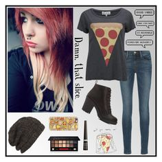 """""""Pizza, Pizza. I Was Pleased To Meet Ya."""" by carissa-chaos ❤ liked on Polyvore featuring Frame Denim, Wildfox, Smashbox, Rimmel, AllSaints, Charlotte Russe and Casetify"""
