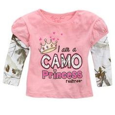 Realtree Infant Toddler Girl Layer Sleeve Top at Shopko
