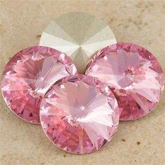 Four Swarovski Crystal 14mm 1122 Rivoli Light Rose (223)