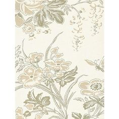 Lewis & Wood Muscat Wallpaper (7.710 RUB) ❤ liked on Polyvore featuring home, home decor, wallpaper, floral pattern wallpaper, cream wallpaper, flower pattern wallpaper, beige wallpaper and floral home decor