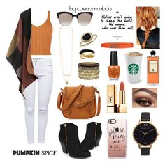 """""""Pumpkin Spice   Orange. White. Black."""" by weaam-abdu ❤ liked on Polyvore featuring Journee Collection, Christian Dior, Daytrip, Michael Kors, Blue Nile, Olivia Burton, Yves Saint Laurent, Serge Lutens, Casetify and Rimmel"""