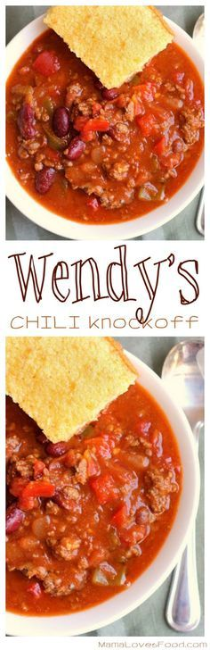 Wendy's Chili Knockoff Copycat Recipe ~ This recipe makes a giant batch and it tastes fabulous!