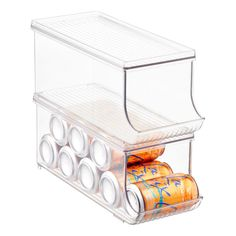 InterDesign Linus Fridge Binz Soda Can Organizer with Shelf Can Storage, Diy Kitchen Storage, Kitchen Pantry, Food Storage, Storage Ideas, Space Kitchen, Kitchen Ideas, Storage Solutions, Kitchen Decor