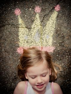 for invitations Just finished a mini photo shoot with my BIG 4 year old! We used this photo for inspiration (our crown was a little different and we did a wand too) I can& wait to turn our photo into birthday invites for her princess/knight party!