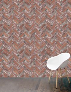 Herringbone brick wallpaper in red featuring a traditional herringbone pattern. Sold in panels this feature wallpaper will add character to your decor.