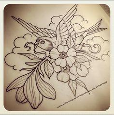 Magnolia Blossom Bird - Guen Douglas