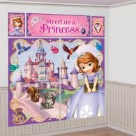 Sofia the First Scene Setter features Sofia, her castle and her woodland and fairy friends. Sofia the First Scene Setter is a great indoor and outdoor wall decoration or photo backdrop. First Birthday Party Supplies, Sofia The First Birthday Party, Sofia Party, First Birthday Parties, 3rd Birthday, First Birthdays, Birthday Ideas, Thing 1, Disney Princess Party