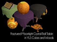 Happy Simblreen! The first gift is a set of twelve paintings with the zodiac constellations for your witches or your fancy astronomers. The second gift is the Crystal Ball table from sims 3 edited by...