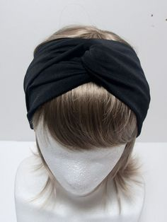 black jersey turban headband