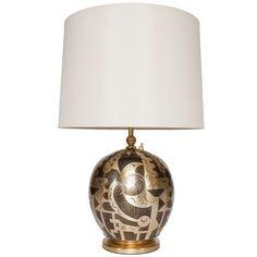 Art Deco WMF Paul Haustein Ikora covered jar lamp