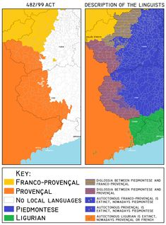 How to pronounce g in different european languages maps the occitan valleys of italy according to the italian national law and according to linguists sciox Image collections