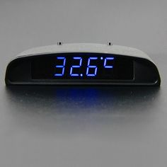 12V Original Car Interior Trim Appearance 3 In 1 Car Clock Theromometer And Voltage Monitor Seven Kinds of Display Mode