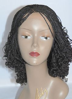 Lace front braided wig