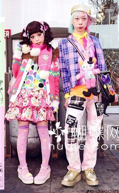 I always see pictures of Haruka and Junnyan. I don't think they are but they should be a couple. Japanese Street Fashion, Tokyo Fashion, Harajuku Fashion, Kawaii Fashion, Lolita Fashion, Korean Fashion, Colorful Fashion, Love Fashion, Girl Fashion