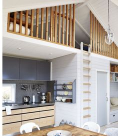 Tiny house trend 6 style lessons for small spaces Tiny House Loft, Tiny House Living, Small Living, Loft Room, Bedroom Loft, Loft Railing, Small Loft, Home Trends, Small House Design