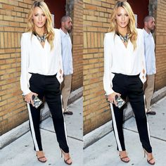 Chic e despojado #look #looks #streetstyle #streetchic #style #fashion #moda #modaderua #blake #blakelively