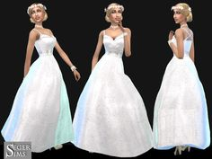 Sims 4 CC's - The Best: Wedding Dress by SegerSims