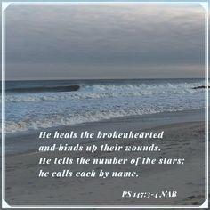 Psalm 147: 3-4 Psalm 147, Psalms, Biblical Quotes, Bible Verses, Bound Up, Sword Of The Spirit, Healing, Inspirational, Scripture Verses
