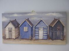 painting - beach huts
