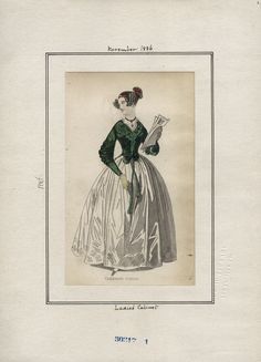 November 1836 Ladies' Cabinet Carriage Dress.