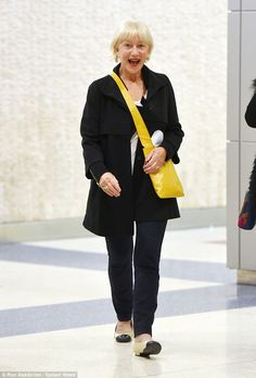 1d766c332d44 Helen Mirren sporting a casual chic look at JFK airport