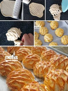 Kafes Poğaça – Nefis Yemek Tarifleri – How to make Lattice Pastry Recipe? Illustrated explanation of the Lattice Pastry Bakery Recipes, Cooking Recipes, Curry Puff Recipe, Persian Desserts, Bread Shaping, Food Carving, Puff Pastry Recipes, Sweet Pastries, Turkish Recipes