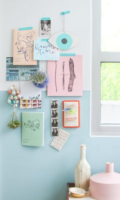 Pastel Inspiration Boards + 30 Second DIY Hardware Store Hack – office inspiration Feng Shui Colores, Decorating Tips, Decorating Your Home, Cheap Home Decor, Diy Home Decor, Neon Light, Pastel Home Decor, Pastel House, Ideas Para Organizar