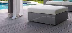 Suelos para jardines y terrazas en www.greendesign.es Composite Decking, Outdoor Furniture Sets, Outdoor Decor, The Great Outdoors, Ottoman, Home Decor, Forget, Fit, Garden