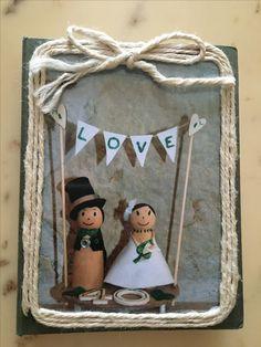 Mini album delle foto per l'anniversario di matrimonio