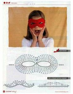 Children crochet mask - Crochet / knit / stitch charts and graphs
