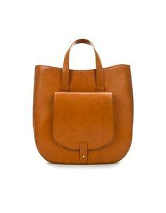 zara tote bag with pocket