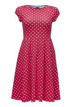 Fin, rå og retro, Solvei kjole med pink prikker fra Weiz Copenhagen