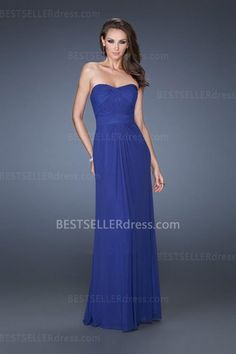 Dark Blue Full Length Strapless Blue Prom Dresses by La Femme 19155 [La Femme 19155] - $165.00 : Hot Sale | Homecoming Dresses, Prom Dresses, Formal Necktie, Classic Shoes