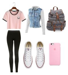 """Untitled #1"" by abbeyann19 ❤ liked on Polyvore featuring Topshop, Mur Mur, Converse and Aéropostale"