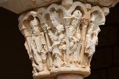 Más tamaños | Nuestra Señora de la Asunción, Duratón (Segovia, Spain). | Flickr… Romanesque Art, Medieval Art, Columns, Mists, Angel, Illustrations, Statue, Photo And Video, Roman Art