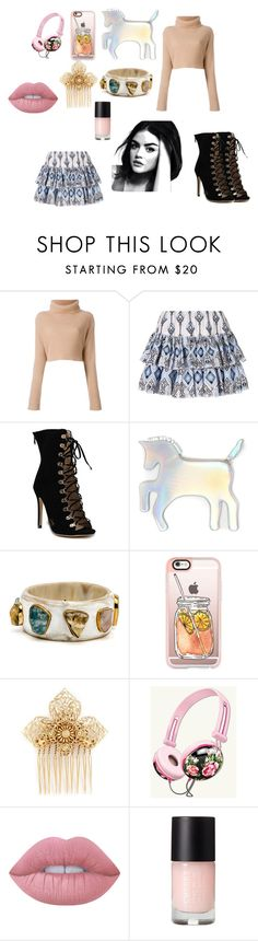 """""""Lucy Hale"""" by lunabella-222 on Polyvore featuring Mode, Valentino, Caroline Constas, WithChic, Casetify, Miriam Haskell und Lime Crime"""
