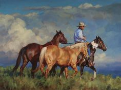 """Jason Rich painting """"Back to the Pasture""""."""
