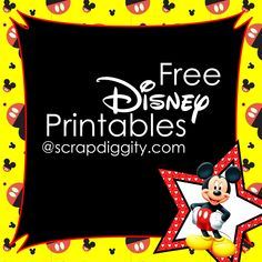Scrapdiggity Free Disney Printables!-great for the classroom                                                                                                                                                      More