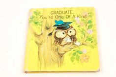 Graduate You're One of a Kind  Vintage Gift Novelty by ThePinkRoom