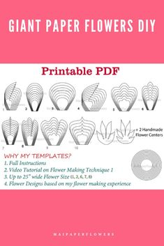 Are you looking for large paper flower printable templates? Then try out this one! Make your paper flowers diy projects at so saving cost! #paperflowerprintable #paperflowerprintabletemplate #paperflowertemplate #largepaperflowertemplate #largepaperflowers #paperflowersdiy #paperflowershowto #paperflowersmaking Large Paper Flower Template, Flower Petal Template, Paper Flower Tutorial, Easy Paper Flowers, Paper Flower Backdrop, Flower Words, Giant Paper Flowers, Printable Templates, Flower Center