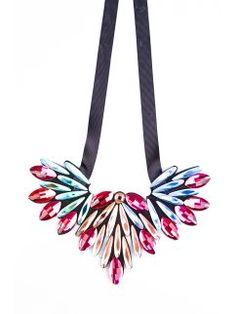 Collar fiesta multicolor brillante con cinta