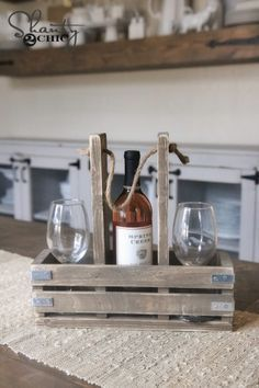 DIY Wine Caddy and YouTube Video!