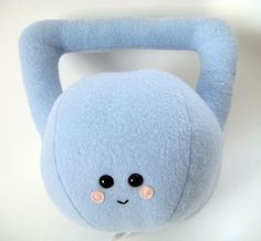 Plush Toy - Buffy the Kettlebell Plushie by janiexy on Etsy Kettlebell Training, Kettlebell Swings, Buffy, Crossfit Kids, Felt Applique, Plush Dolls, Baby Fever, Plushies, Fitness Inspiration
