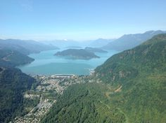 Harrison Hot Springs and Lake from the air