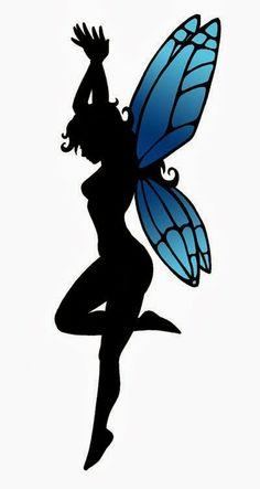 Fairy Stencils | Dancing fairy tattoo stencil 17 (click for full size)
